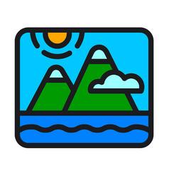 landscape nature logo graphic design vector image