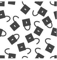 lock seamless pattern background icon flat vector image