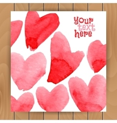Love card template vector