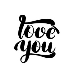 love you lettering greeting card vector image