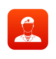 Modern army soldier icon digital red vector