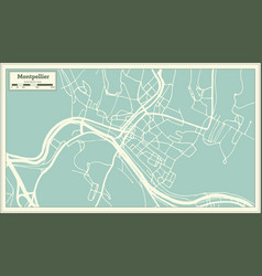 Montpelier vermont usa city map in retro style vector