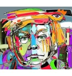 Original abstract art contemporary digital vector