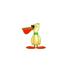Pelicans bird mascots vector