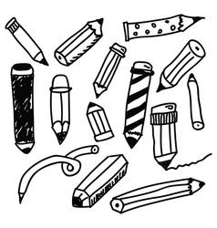 Pencils sketch collection vector