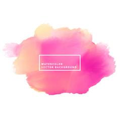 Pink paint brish stroke watercolor background vector