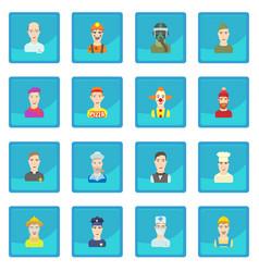 Profession icon blue app vector