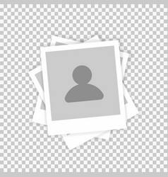 Profile picture photo image template male vector