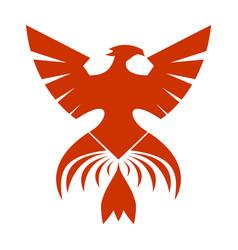 Red phoenix symbol vector