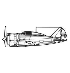 Reggiane re2000 falco vector