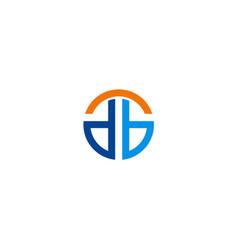 Round shape company logo vector