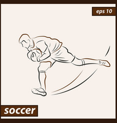 shows a soccer vector image