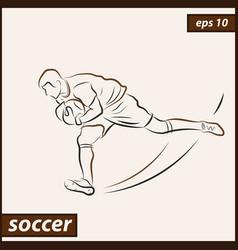Shows a soccer vector