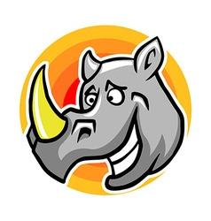Smiley Rhinoceros vector