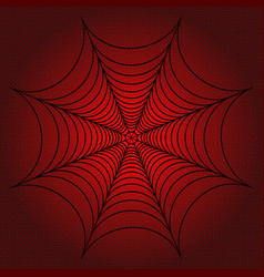 Spider web cobweb on red dotted background vector