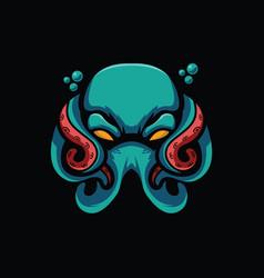 spooky octopus design vector image