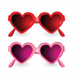sunglasses heart shape vector image