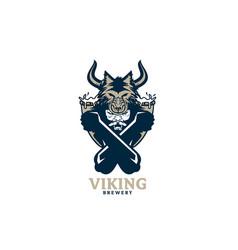 viking brewery vector image