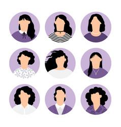 women faceless avatars vector image