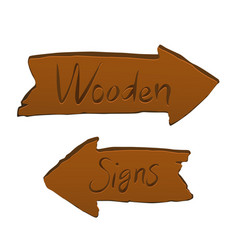 wooden signs arrows vector image