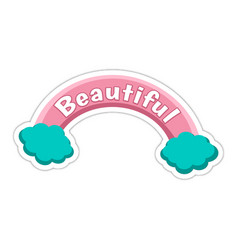 Word text beautiful image vector