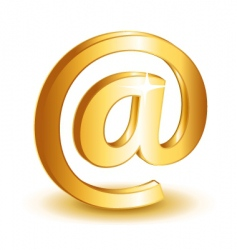 at mail icon vector image vector image
