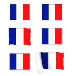 France flag set vector image vector image