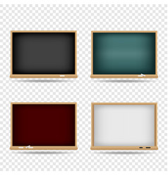 blackboard school template set vector image vector image