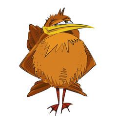 cartoon image of bird vector image vector image
