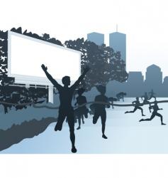 city street scene vector image vector image