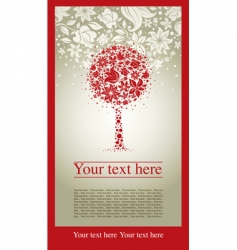 ecorative tree vector image vector image