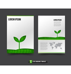 Flyer brochure background templated 012 ecology vector