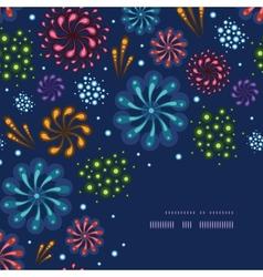 Holiday fireworks corner decor pattern background vector image