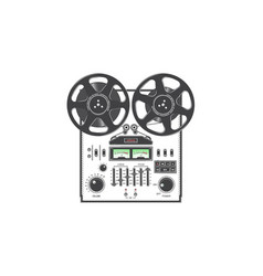 retro reel to reel tape recorder deck detailed vector image