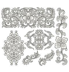 scroll element set vector image