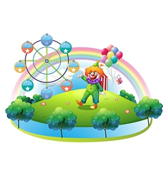 A carnival in an island vector image