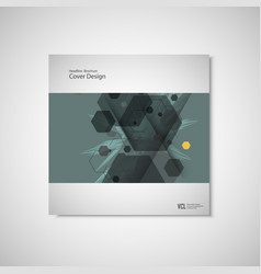 abstract cover design business brochure template vector image vector image