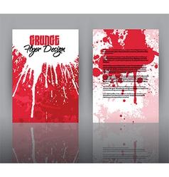 Grunge design for flyer template vector image vector image