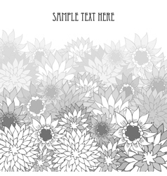 Hand drawn floral vintage background vector image