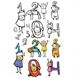 numbers kids vector image vector image