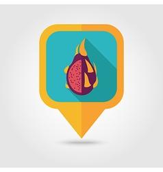 Pitaya flat pin map icon Tropical dragon fruit vector image vector image