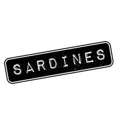 Sardines rubber stamp vector