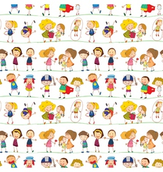 a kids vector image