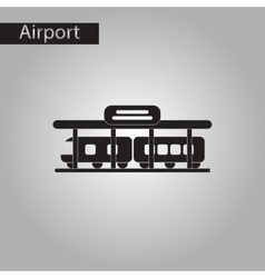 Black and white style icon train station vector