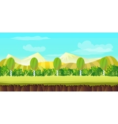 hills game background vector image