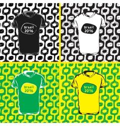 Ipanema beach pattern set of t-shirts vector image