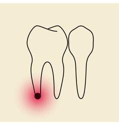 Toothache Pulpitis vector image vector image