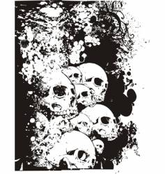wall of skulls illustration vector image vector image