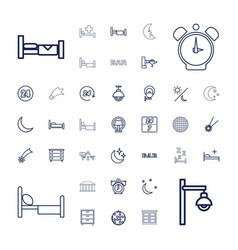 37 night icons vector