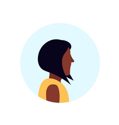 african american woman profile avatar isolated vector image